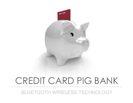 Свинка-копилка для кредитных карт