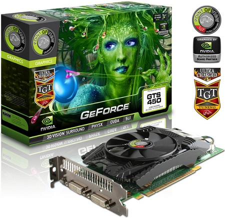Известия о 3D GeForce GTS 450 Charged